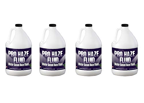 Froggys Fog - Pro Haze - High-Performance Haze Fluid for Hurricane Haze 2 and Fog Machines - Water Based Haze Fluid - 4 Gallons