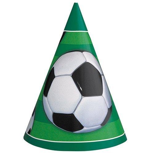 Unique Party - 27311 - Paquet de 8 Chapeaux de Fête Football