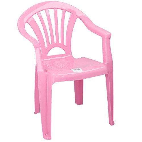 Stuhl aus Kunststoff für Kinder Kinderstuhl ideal für Kinderzimmer, Garten, Terasse (Rosa/Altrosa)
