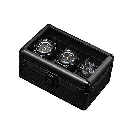 Caja de aluminio para 3 relojes, caja de regalo para hombre y mujer.