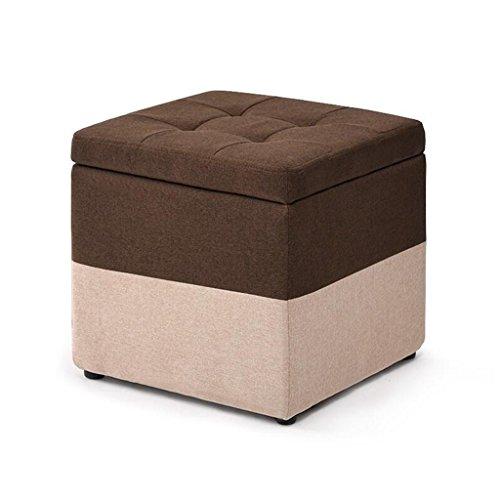 Repose-pieds Coffre de rangement Cube Chaise Pouf Pouf Pouf carré avec couvercle et couvercle en lin amovible Repose-pieds rembourré de salon | Couloir Heavy Duty Max, 150KG 30x30x35cm