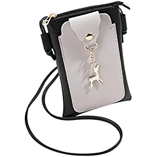 Customer reviews Crossbody BagVEMOW Women Girl Anti Theft Messenger Vintage Strap Purse Tote Handbag Satchel Bags Purses Backpacks Shoulder Bags Clutches, Fashion Patchwork Deer Cover Phone Coin Bag (13*1*18cm, Gray):Eventmanager