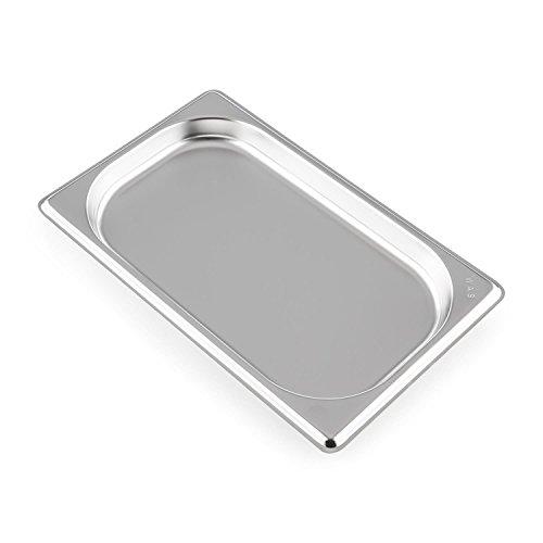 Klarstein GN - Récipient gastronomique pour le Klarstein Steakreaktor 2.0, Format compact, Facile à manipuler, Facile à nettoyer, Va au lave-vaisselle, Inox
