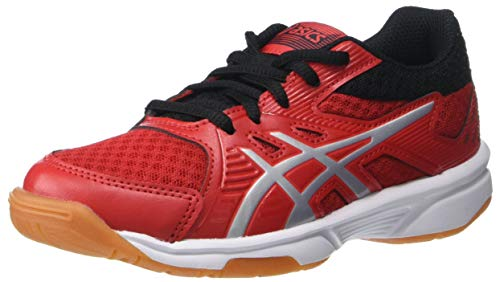 ASICS Kids Upcourt 3 Volleyball (Little Kid/Big Kid) Classic Red/Pure Silver 1.5 Little Kid