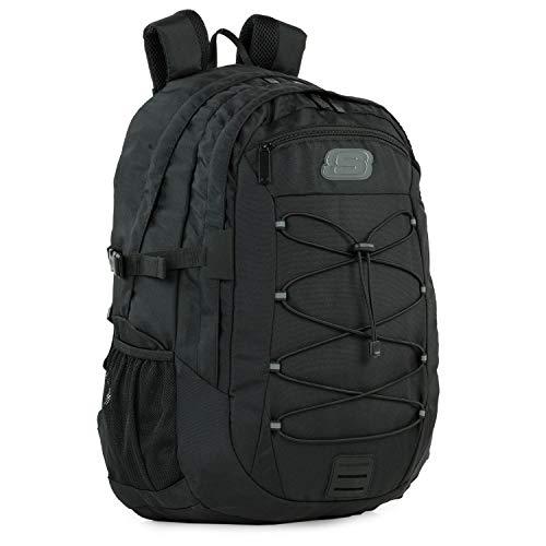 SKECHERS - Casual Rucksack Unisex Laptop Fach innen. Perfekt für den täglichen Gebrauch. Praktischer, komfortabler und vielseitiger S997, Color Schwarz