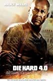 DIE Hard 4 - Bruce Willis – Wall Poster Print – A3 Size