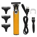 Cortadora de cabello eléctrica, equipo de cuidado del cabello, cortadora de cabello, para peluquería, salón, hombres, hogar(Golden)