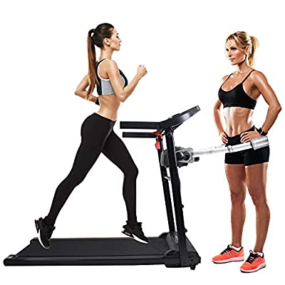 OUTDOOR DIAMOND 50''Folding Treadmill Easy Assembly Fitness Motorized Running Machine LCD Display Hi-Fi Audio 2.0 HP Power-Low Noise for Home Use with Massager Belt