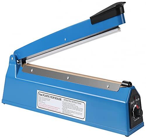 Impulse Heat Sealer Manual Bags Sealer Heat Sealing Machine 12 Inch Impulse Sealer Machine for Plastic Bags PE PP Bags with Extra Replace Element Grip