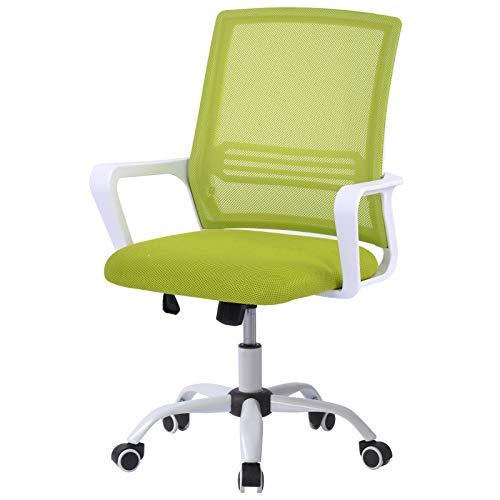 jeerbly Bürostuhl mit Armlehne, verstellbarer Netzstuhl, ergonomischer Computerstuhl für Konferenzarbeiten, Chef-Manager, Studium, Büro und Heimbüro