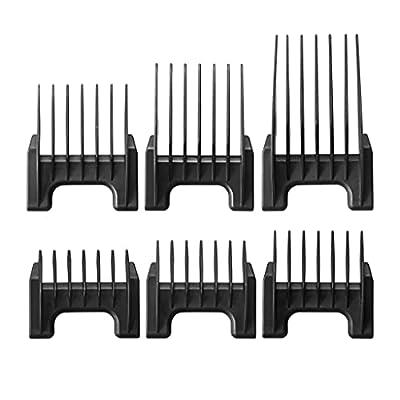 WAHL Plastic Comb Attachments for Arco/Adelar and Bravura, Black KM1881-7170