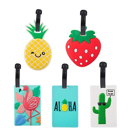Viaggio Bagagli Tag, Pomeloone 5 Pezzi Etichette per bagagli in PVC, Etichetta per Valigie ID Viaggio Borsa Tag, Etichetta Identificativo per Bagaglio da Viaggio Bagagli Tag per il Aereo (B)