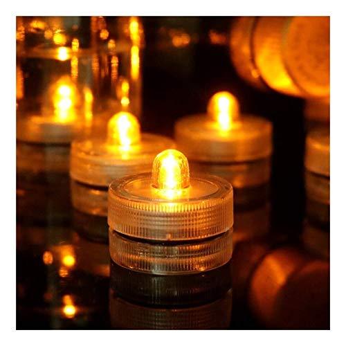 36pcs luci sommergibili del LED, ambra sommergibili piscina luci, lumini impermeabili, senza fiamma ha condotto la luce for di domestica Wedding del partito Vaso Festival Valentino Decorazioni di Nata