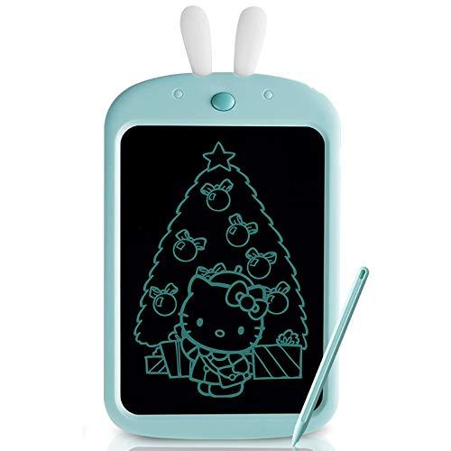 Tableta De Escritura LCD De 10 Pulgadas, Pizarra De Colores Tableta De Dibujo Portátil Mini Pizarra Almohadilla De Escritura Adecuada, para La Escuela En Casa De Los Niños, Azul,Naranja