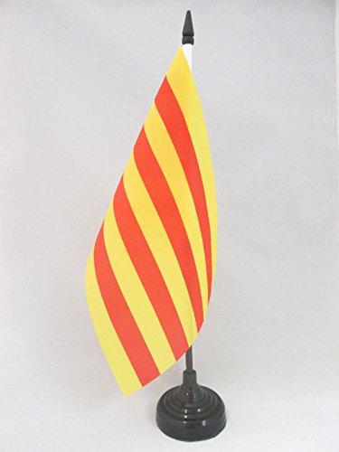 AZ FLAG Bandera de Mesa de CATALUÑA 21x14cm - BANDERINA de DESPACHO CATALANA - Catalunya 14 x 21 cm