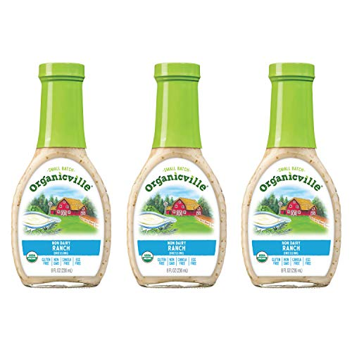 Organicville, Ranch Dressing, Organic, Dairy Free, Gluten Free, 8 oz ( Pack of 3)