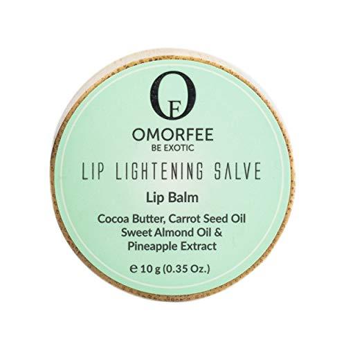 Omorfee 100% Organic Lip Lightening Balm, Lip balm for Dark Lips, Lip Balm with SPF, Natural Lip Protection, Lip Repair, Lip Moisturizer, Cocoa Butter, Carrot Seed Oil & Pineapple Extract -10g/ 0.35Oz