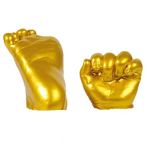 Youyu77 Home Oranment , 3D-Gips Handabdruck Fußabdruck Babyform Hand & Fuß Casting Drucke Kit Cast Geschenk