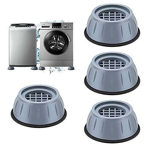 4 PCSAlmohadilla de Goma para Lavadoras,niversal Patas antivibracion lavadora, Amortiguador de vibraciones universal para Lavadora y Secadora,Amortiguador de vibraciones (A)