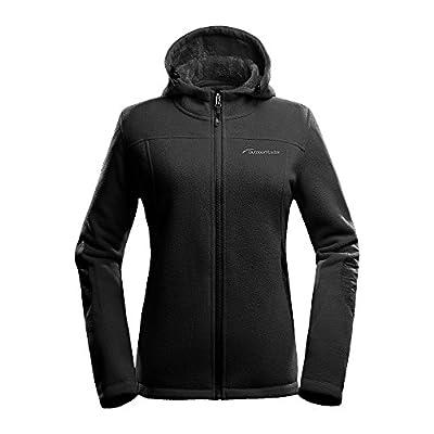 OutdoorMaster Women's Fleece Jacket - Waterproof & Stain Repellent, Ultra Soft Plush Lining & Optional Hoodie - Full-Zip