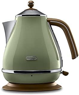 DeLonghi 德龙 KBOV 2001电水壶(1.7 升,复古的外观 ) 橄榄色 one size