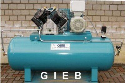 GIEB Kompressor 1.800/500-11-liegend - 11,0 KW 400 V - Vierzylinder (M12) - incl. Sterndreieck-Schaltung