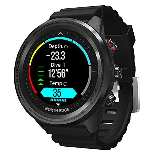 Montloxs Reloj Inteligente BT 5.1 con Pantalla de 1,2 Pulgadas, Reloj Deportivo Multifuncional, Reloj de Buceo, Pulsera Inteligente Impermeable de 50 M, rastreador de Ejercicios