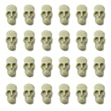 Honbay 50PCS Mini Plastic Skull Heads Decorations Realistic Skeleton Skulls Terrifying Skeleton Ornament for Party Decoration Favors Halloween Trick Toy Accessories