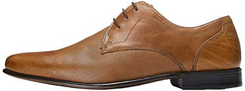 find. Amos Derby Schuhe Herren mit Struktur und Blockabsatz, Braun (Napa Tan), 45 EU