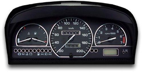 Tachodekorset Chrom für Seat Toledo 1 (Modell 1L, 1991 - 1999)
