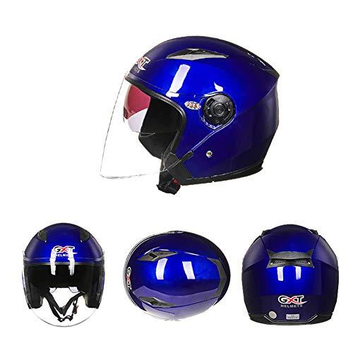 CARACHOME Casco Patinete,Adulto Casco Electrico Gafas De Sol Incorporadas, Unisex Transpirable Casco Moto Integral con Doble Lente,Casco Astronauta para Motocross,Scooters,G,XL