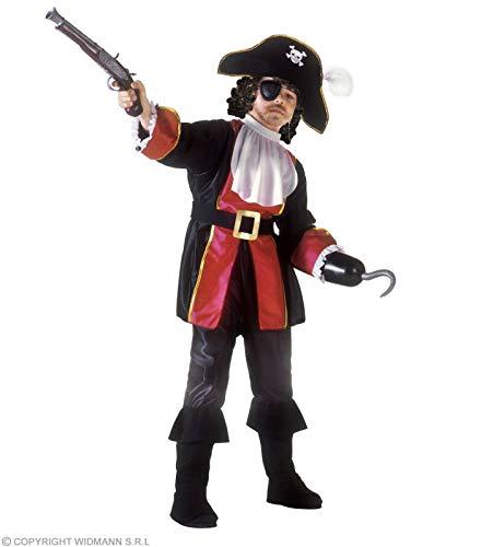 WIDMANN WDM38836?Disfraz para niños de pirata, Capitán Garfio (128cm/5?7años), Negro, XXS