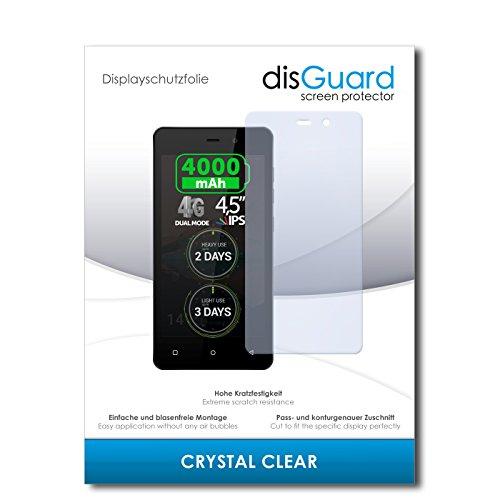 disGuard® Bildschirmschutzfolie [Crystal Clear] kompatibel mit Allview P5 Energy [2 Stück] Kristallklar, Transparent, Unsichtbar, Extrem Kratzfest, Anti-Fingerabdruck - Panzerglas Folie, Schutzfolie