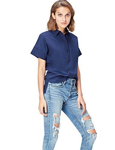 find. Step Hem Camicia Donna, Blu (French Blue), 44 (Taglia Produttore: Medium)