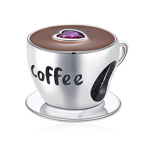 Pandora 925 Sterling Silber Anhänger Diy Qikaola Echte Kaffeetasse Charm Charm Fit Armband Schmuck S CMC a