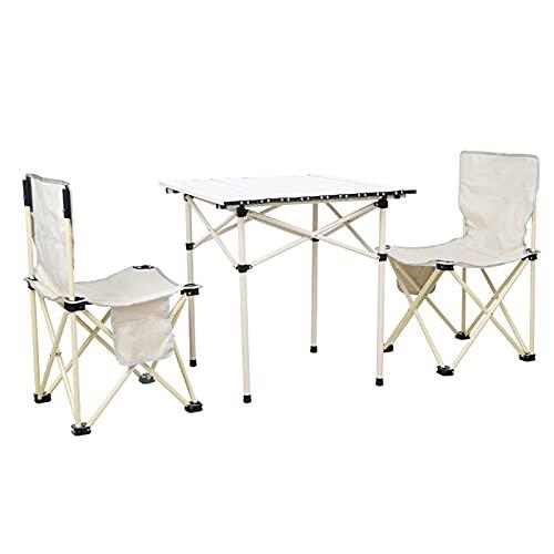 ZCZZ Sillas de mesa de camping, mesa plegable de aleación de aluminio, mesa de picnic al aire libre, plegable y fácil de llevar (color : paquete 4)