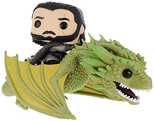 Funko POP Rides: Game of Thrones-Jon Snow w/Rhaegal Ducati Figura coleccionable, multicolor (44448)