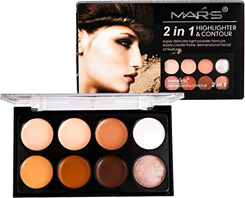 Mars 2 in 1 Highlighter and Contour (Beige-1) with Adbeni...