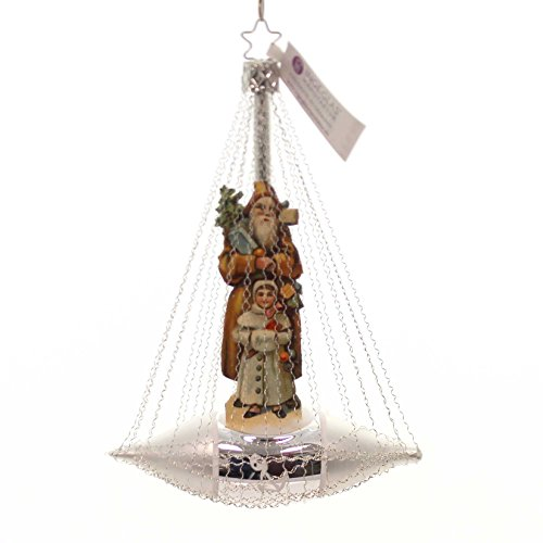 Inge-Glas Nostalgic Nickolas Santa Glass Ornament Made in Germany New