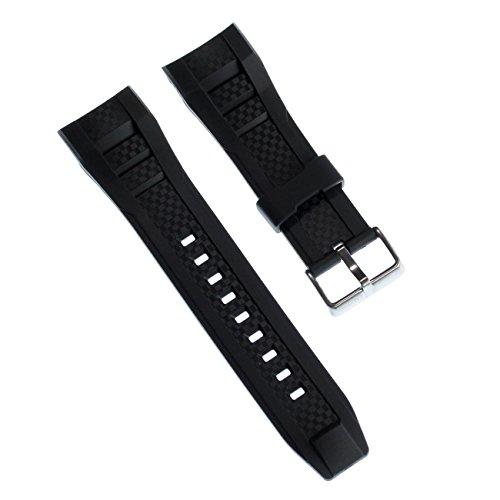 Calypso Correa de reloj deportiva, de poliuretano, color negro, para relojes Calypso K5699