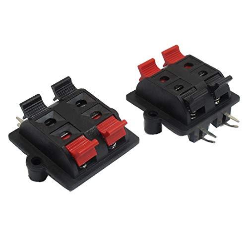 New Lon0167 Federbelastetes Rechteck Vorgestellt 2 Rot 2 zuverlässige Wirksamkeit Schwarz 4 (Lieferung innerhalb von 15-25 Tagen) Position Lautsprecherklemmen 2 Stck(id:4f6 83 91 205)