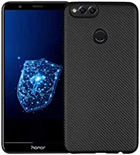 Soft Carbon Fiber Premium Phone Case by Shaf for Huawei Honor 7X - BLACK