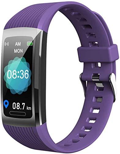 Pulsera deportiva inteligente de seguimiento de la salud de la actividad física bluetooth impermeable metal pulsera deportiva púrpura