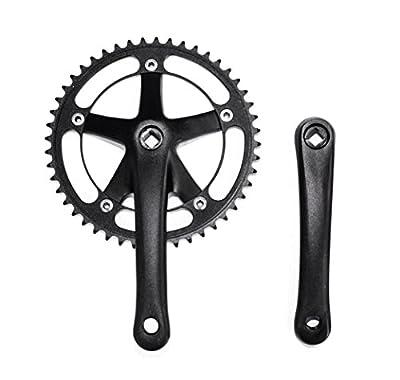 6KU Single Speed Fixed Gear Crankset Fixie Track Bike One Speed Crank Set