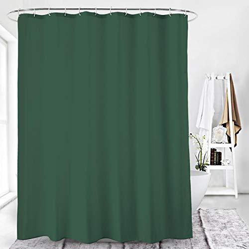 Duschvorhang Textil Badewannenvorhang 120/180 / 240 x 200 cm inkl Ringe (120x200cm, Ozeanblau)