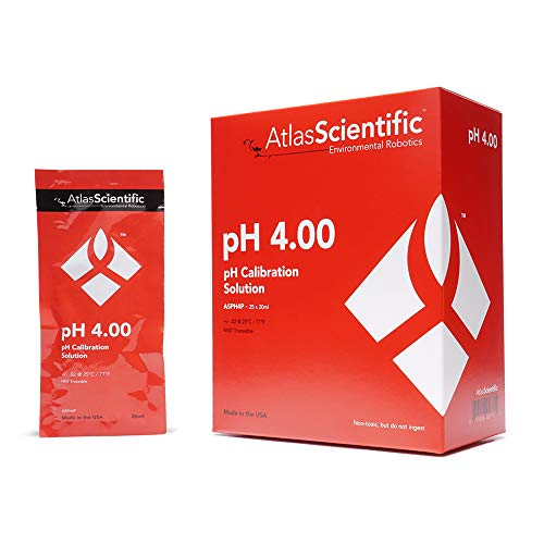 Atlas Scientific pH 4.00 Calibration Solution Pouches (Box of 25)
