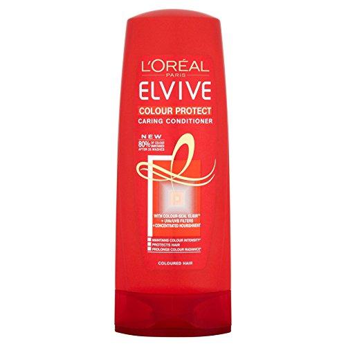 6 x l'oréal paris Elvive Colour Protect Caring Après-shampoing 400 ml