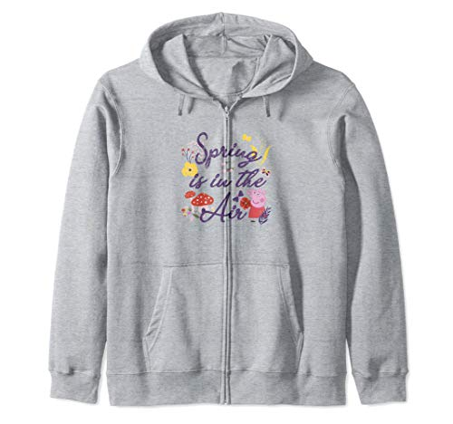 Peppa Pig Spring Is In The Air Easter Flowers Sudadera con Capucha