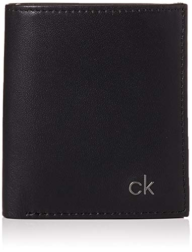Calvin Klein - Smooth CK Mini NS 6 CC Coin Pass, Monederos Hombre, Negro (Black), 0.1x0.1x0.1 cm (B x H T)