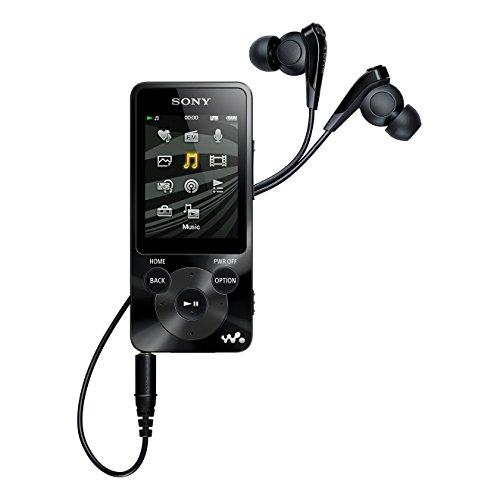 Sony NWZ-E585 Walkman Video/MP3-Player 16GB mit Digitalem Noise Canceling, 5,1 cm (2 Zoll) Display, UKW-Tuner, schwarz
